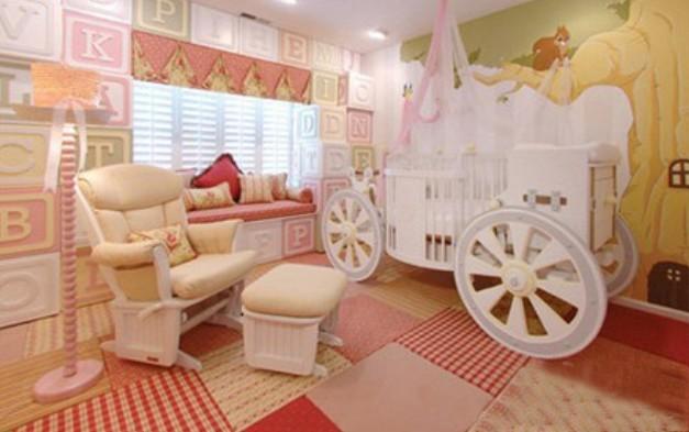 女生卧室欧式墙绘