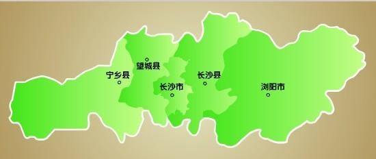 指宁乡城区和浏阳工业新城