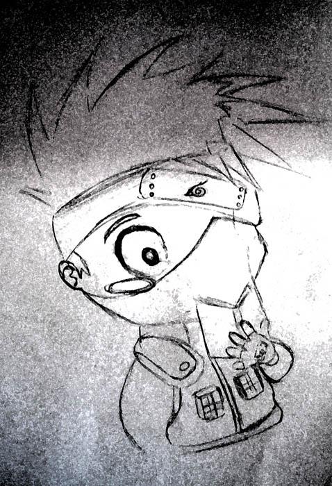 动漫绘画活动火影忍者——卡卡西