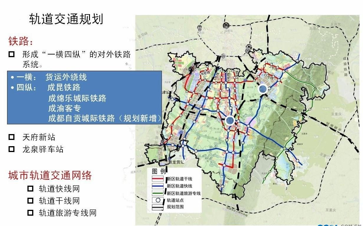 天府新区最新交通规划,包含成仁自城际铁路