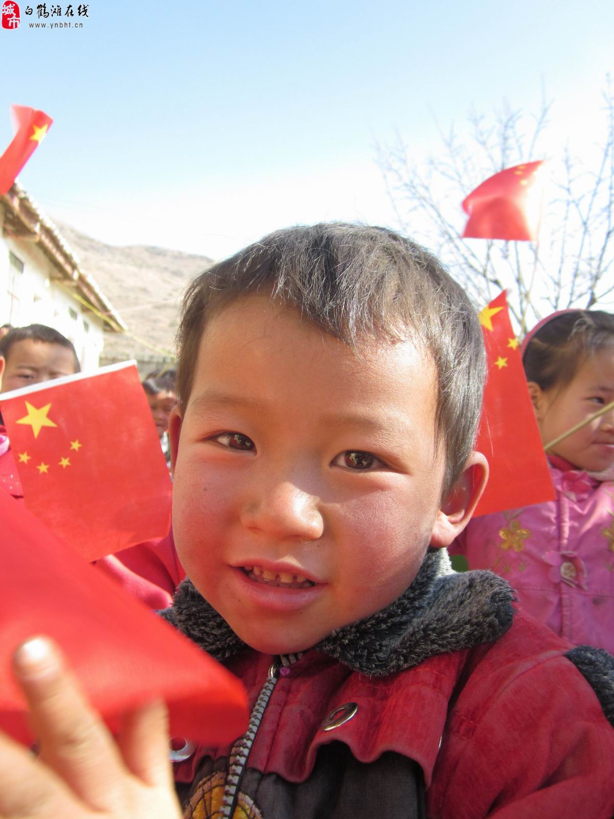 农村孩子们可爱的笑脸