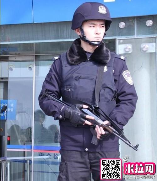 手绘警察帅气图片