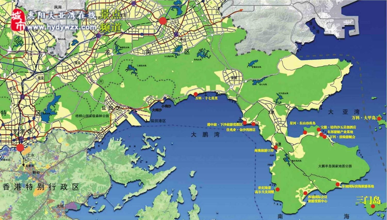 惠州旅游景点地图