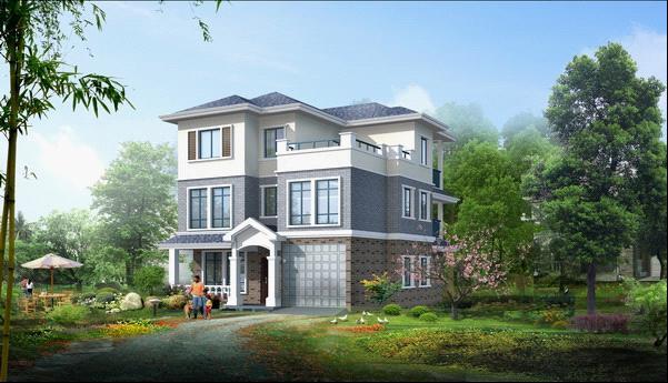 三层别墅设计 新农村自建房屋设计图纸 效果图平面图227