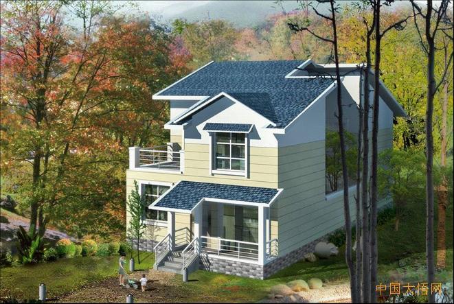 设计图分享 新农村别墅设计  15x10米二层农村别墅设计图,8间卧室,含图片