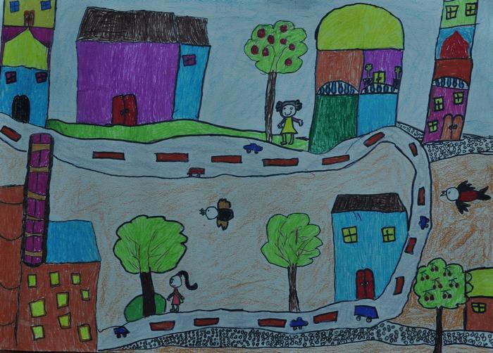 """主题: """"阳光下成长""""小学生绘画作品选"""