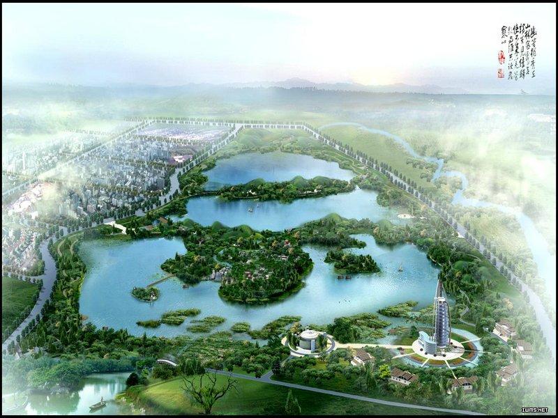 张掖市滨河新区中央商务区规划图和甘州区规划图