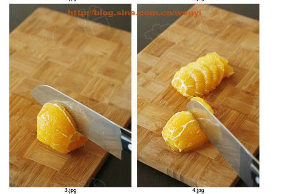 西瓜果盘制作图解 果盘制作图解 橙子果盘