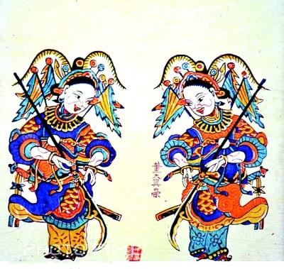 古代手绘青衣美女图片