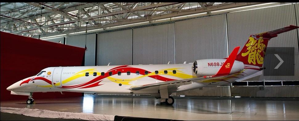 主题: [转贴]成龙私人飞机亮相新加坡航展 价值2亿元