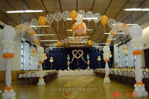 室内屋顶气球布置