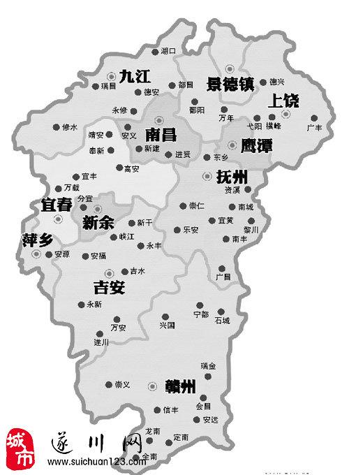 江西抚州临川区地图