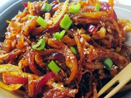 辣炒鱿鱼丝的做法 川菜