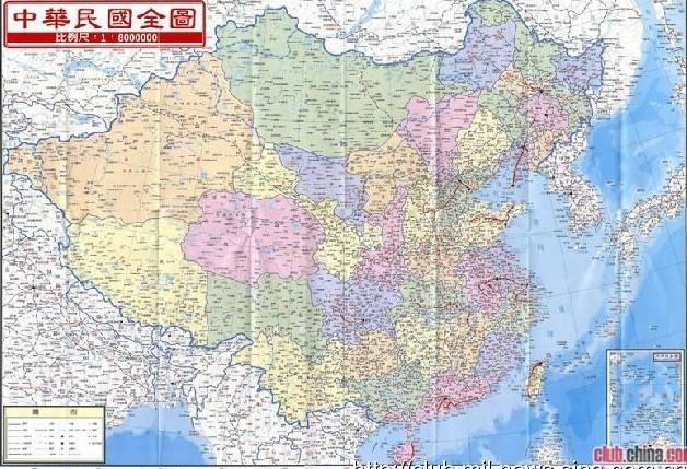 台湾出版的中国地图-龙川论坛-手机龙川在线