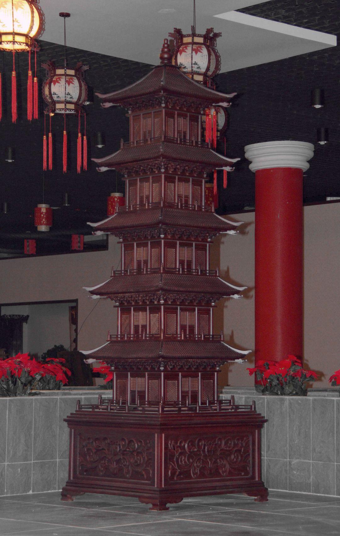 天龙红木工艺品——————————玲珑塔