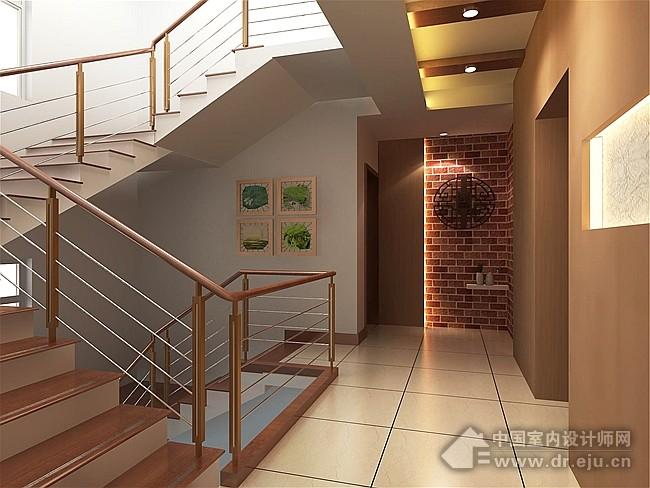 楼梯顶斜面吊顶效果图