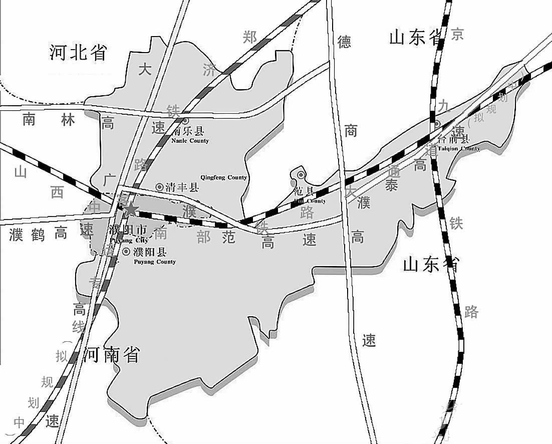 濮阳最新地图全图