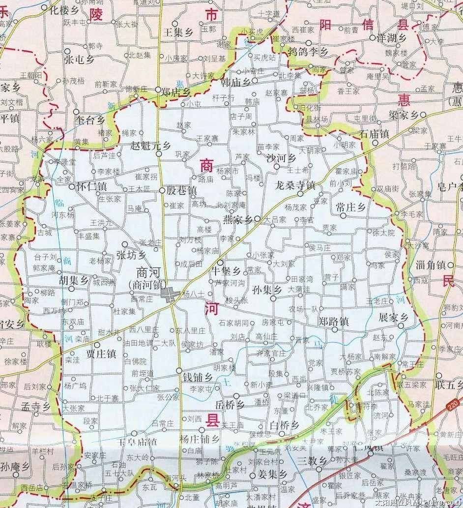 山东济南市商河地图