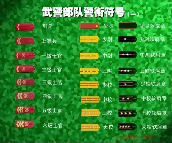 07年武警部队衔 -中国军衔图片