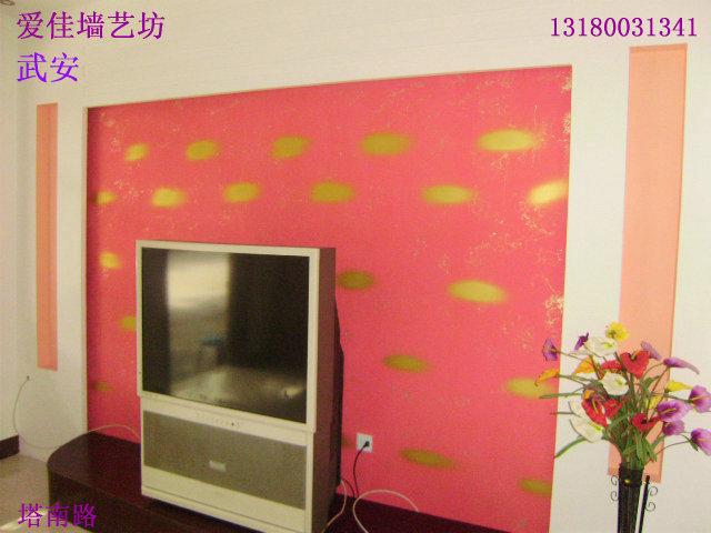 影视墙 – 设计本装修效果图   简单的壁纸影视墙   客厅影视