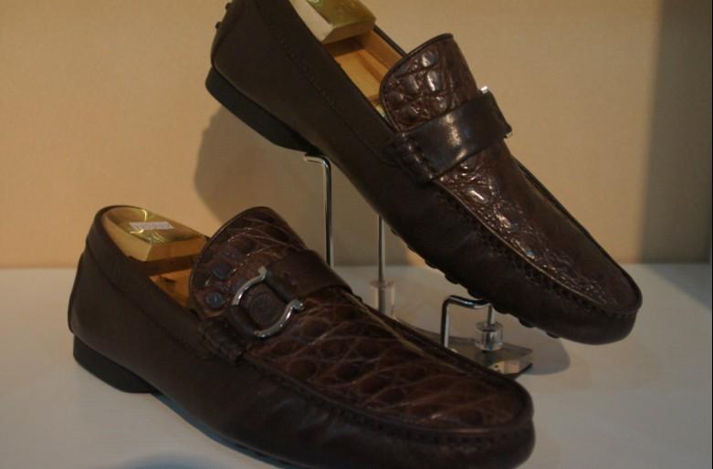 爵狮蒂尼 鳄鱼皮鞋