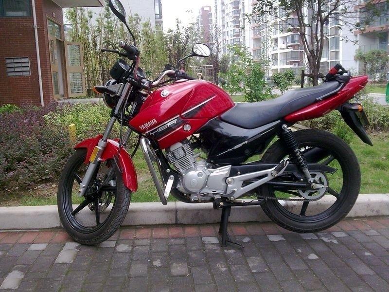蓝色及红色越野版雅马哈天剑125摩托车诚心甩卖 高清图片