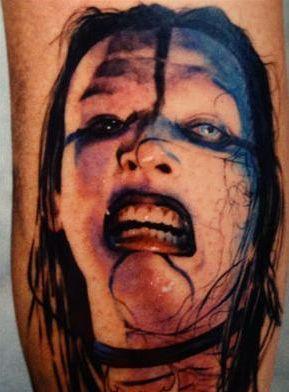 有关manson的tatoo 来自manson吧; 玛丽莲曼森纹身_遗忘空间*; 玛莉莲