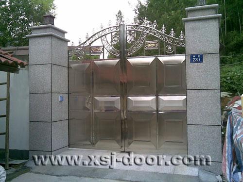 单独别墅庭院围墙大门