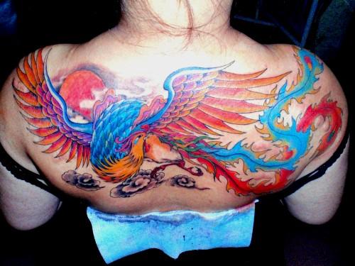 艺术纹身凤凰