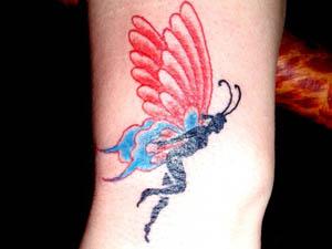 蝴蝶仙子纹身图片