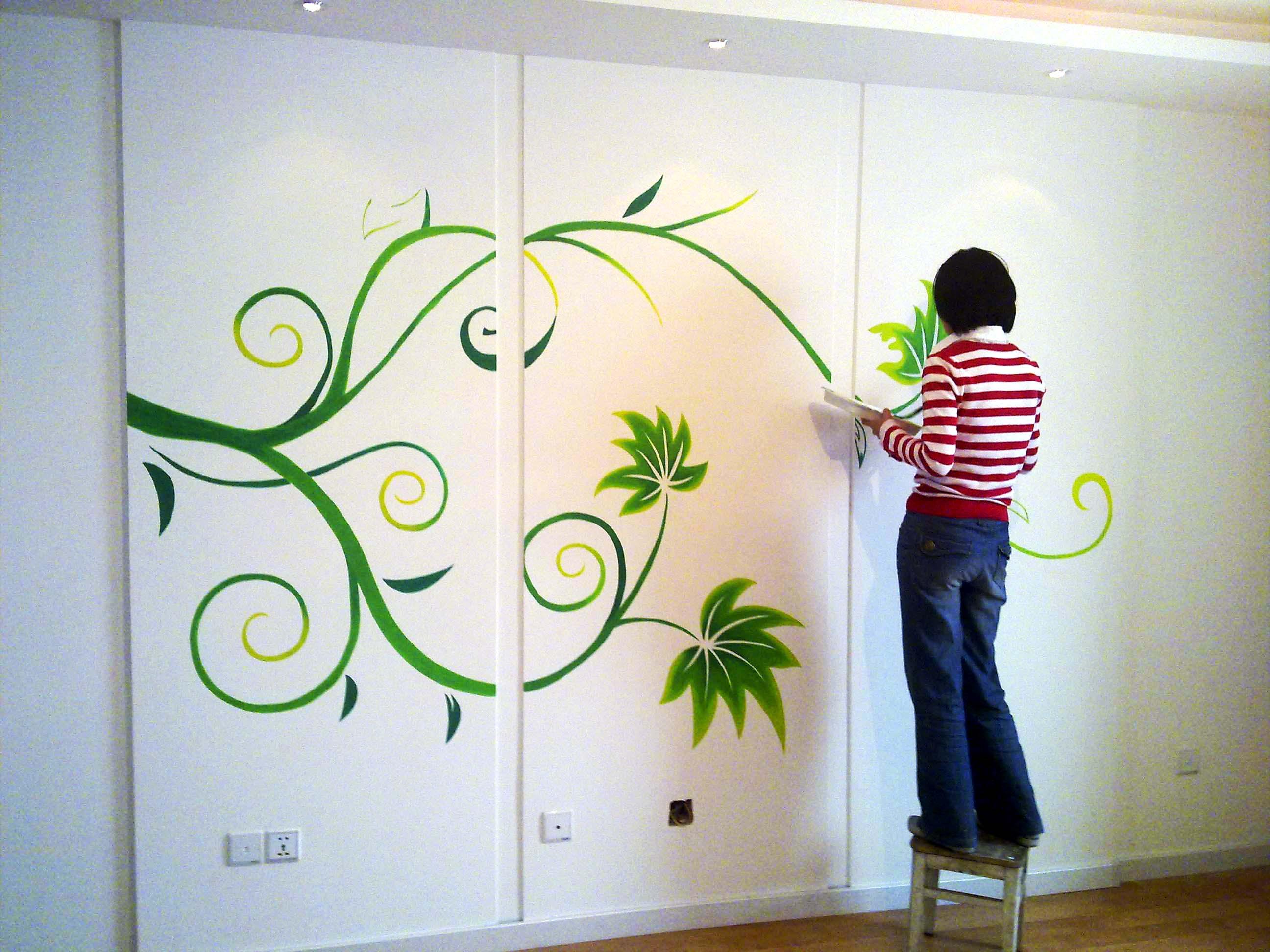 小葵花手绘墙画