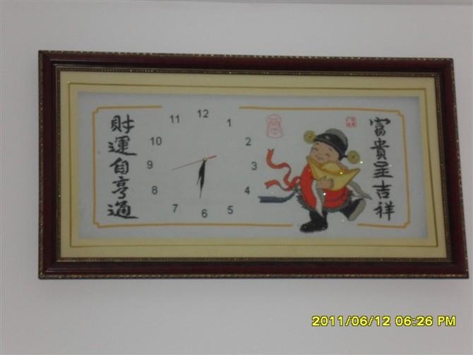 钟表十字绣出售