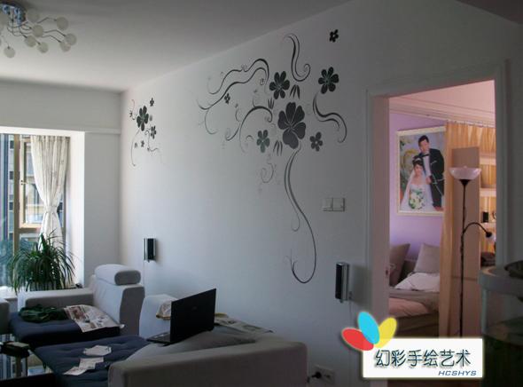 室内展厅手绘彩绘