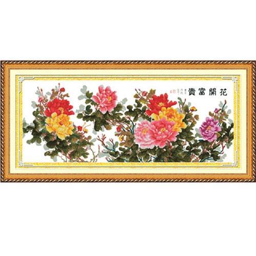 花开富贵十字绣_白城之窗