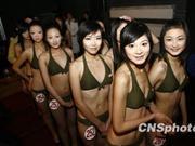 数百名高校模特参加空姐选拔