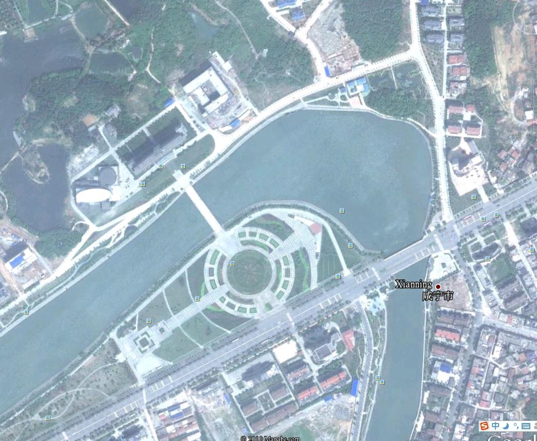 谷歌地球 Google Earth 更新咸宁市区地图