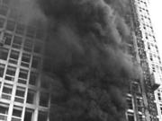 河南周口市99米高在建楼盘突然起火(组图)