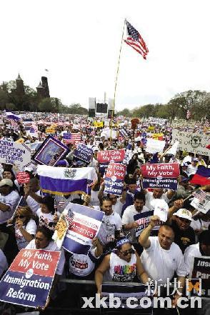 华盛顿州人口-美国爆发十万移民示威游行,五常国际热点,五常在线