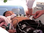玉树震区4名孩子在北京免费疗伤(组图)