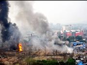 南京和燕路附近发生大爆炸