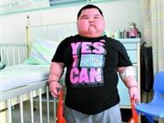 3岁男童体重达120斤 小巨人