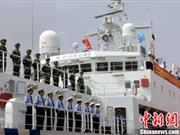 中国海监船首次赴俄参加多国联合演习(图)