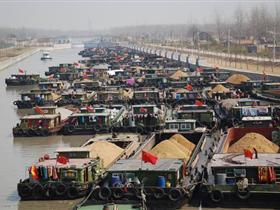 灌南县盐灌船闸过闸货物量首季实现83万吨