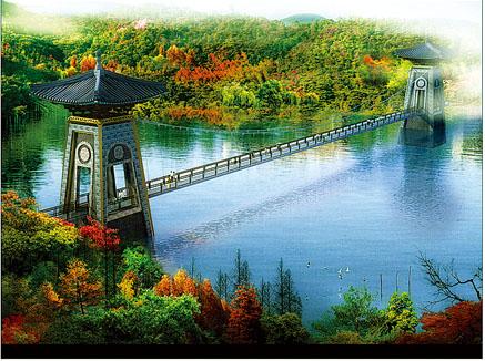 红花湖景区景桥效果图-惠州红花湖景区内拟建景桥