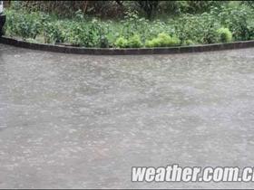 河北多地有强降雨 气象台发布暴雨蓝色预警