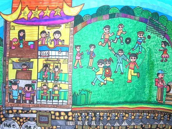 旬阳一小学生获全国青少年科技创新大赛科幻画二等奖; 获得全国青少年图片