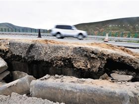 甘肃省天定87亿元高速公路通车半年就大修(图)