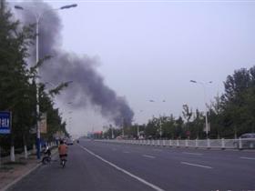日�N国际附近发生火灾