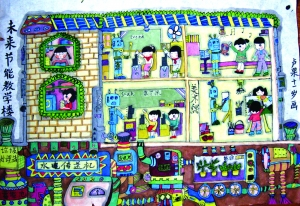 小学生科幻画作品 小学生科幻画 儿童科幻画