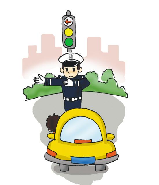 开车上路,民警的手势就是权威,每一位驾驶人都必须服从交警的现场指挥图片